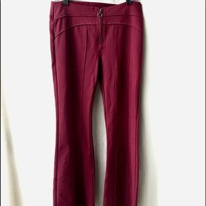 Free People Stretch Bell Bottoms w Zipper Ring, 6